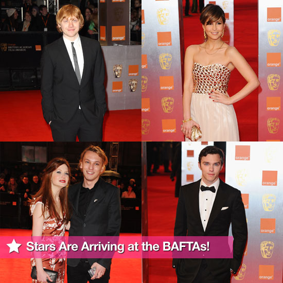 Pictures of BAFTAs Red Carpet Including Rupert Grint, Bonnie Wright, Jamie Campbell Bower, Nicholas Hoult, Rachel Stevens