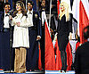 Lea Michele and Christina Aguilera&#039;s Outfits at the 2011 Super Bowl