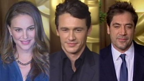 Video of Pregnant Natalie Portman, Javier Bardem, James Franco at Oscars Nominee Luncheon