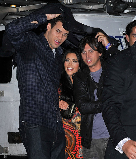 Kim Kardashian Spends the Night With Kris, Jonathan, and a Prince