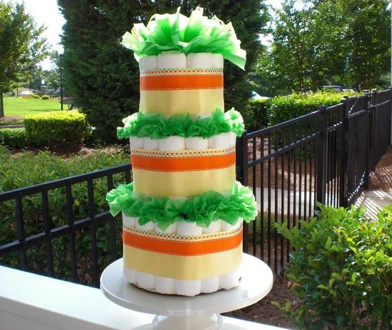 Green Diaper Cake
