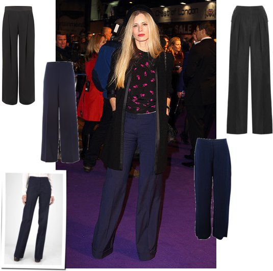 Get Wide Leg Trousers like Laura Bailey at the Paul Premiere