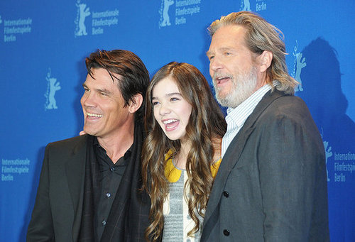 Pictures of Hailee Steinfeld, Josh Brolin, and Jeff Bridges at a True Grit Photocall in Berlin