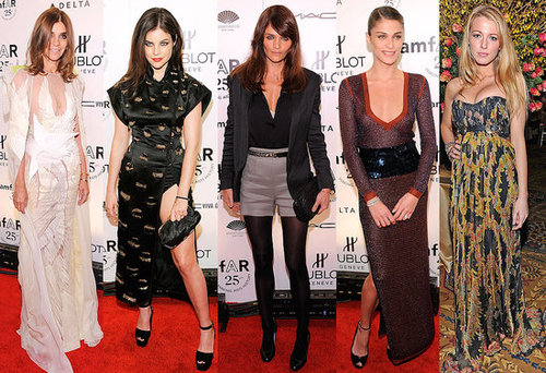 Celebrities at amfAR Gala at New York Fashion Week, including Blake Lively and Carine Roitfeld!