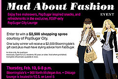 Popsugar City and Bloomingdale's Mad About Fashion Event Feb. 10