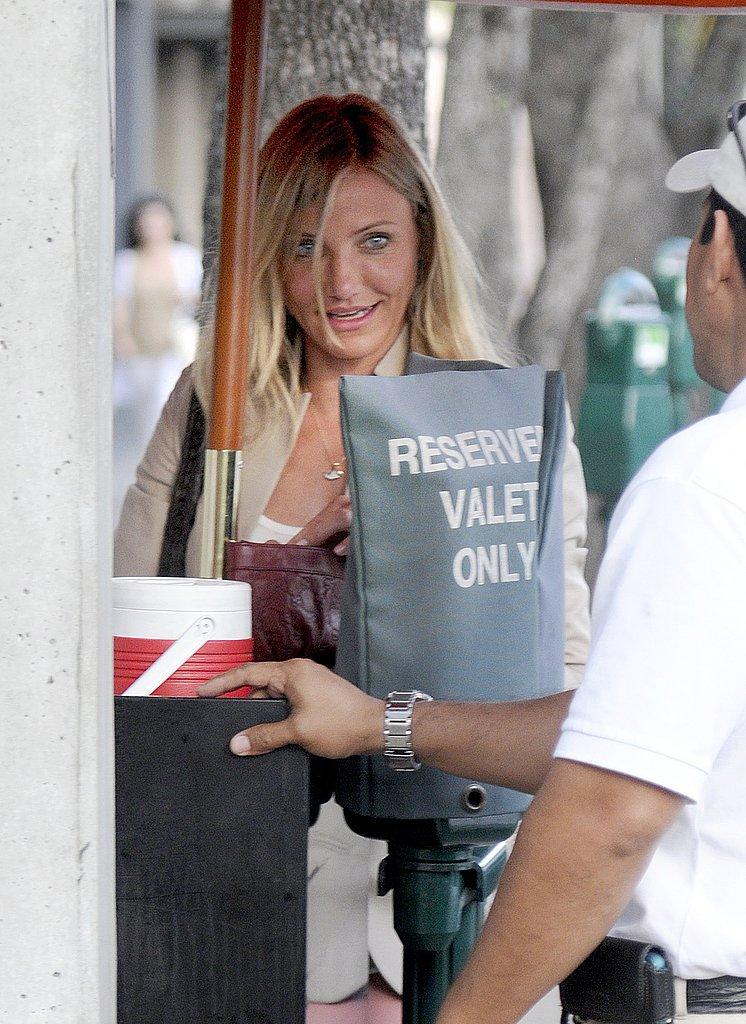 Cameron Diaz Breaks Out Her Tight Pants For a Solo Lunch