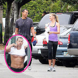 Pictures of Cameron Diaz Working Out With Shirtless Alex Rodriguez