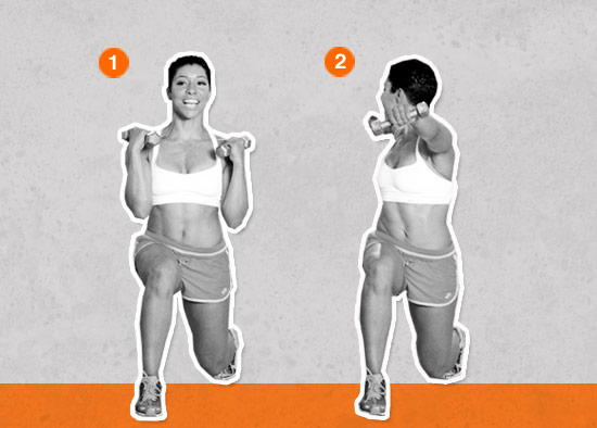 Lunge With a Core Rotation (Total Body Core Sculpt)