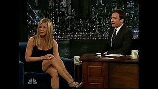Jennifer Aniston Gets A Birthday Cupcake from Jimmy Fallon