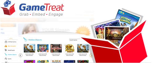 GameTreat is a new Web App that allows you to offer high quality casual game content in your website  for FREE! 