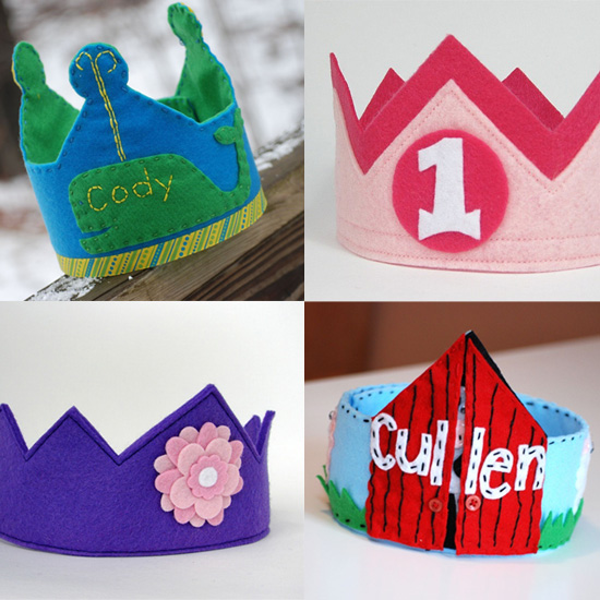 Personalized Birthday Crowns to Top Off Your Tot's Party Look