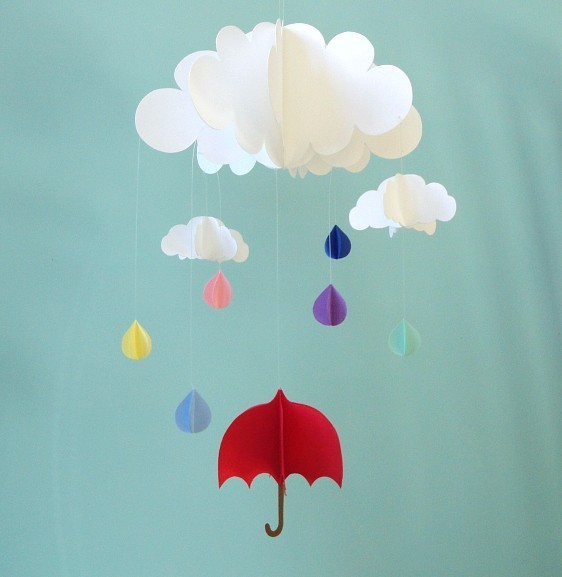 Hang a Red Umbrella