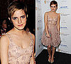 Photos of Emma Watson at the 2011 BAFTA Afterparty in Short Valentino Dress