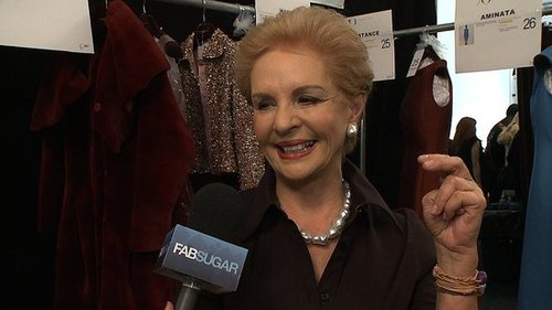 Carolina Herrera Interview at New York Fashion Week 2011
