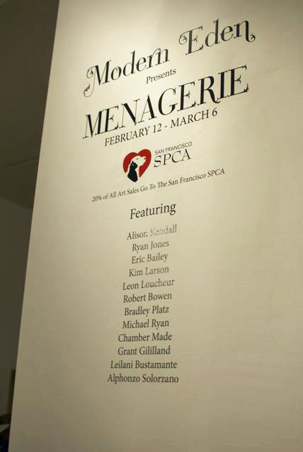 """""""Menagerie"""" runs from February 12 - March 6."""