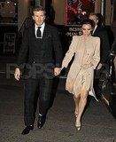 Pictures of David and Pregnant Victoria Beckham on a Valentine's Day Date