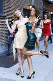 Anne Vyalitsyna and Izabel Goulart Pose Silly