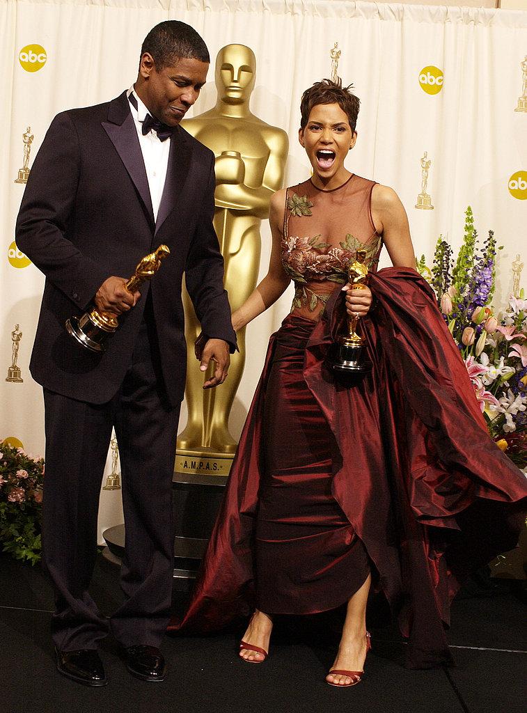 Denzel Washington and Halle Berry, 2002.