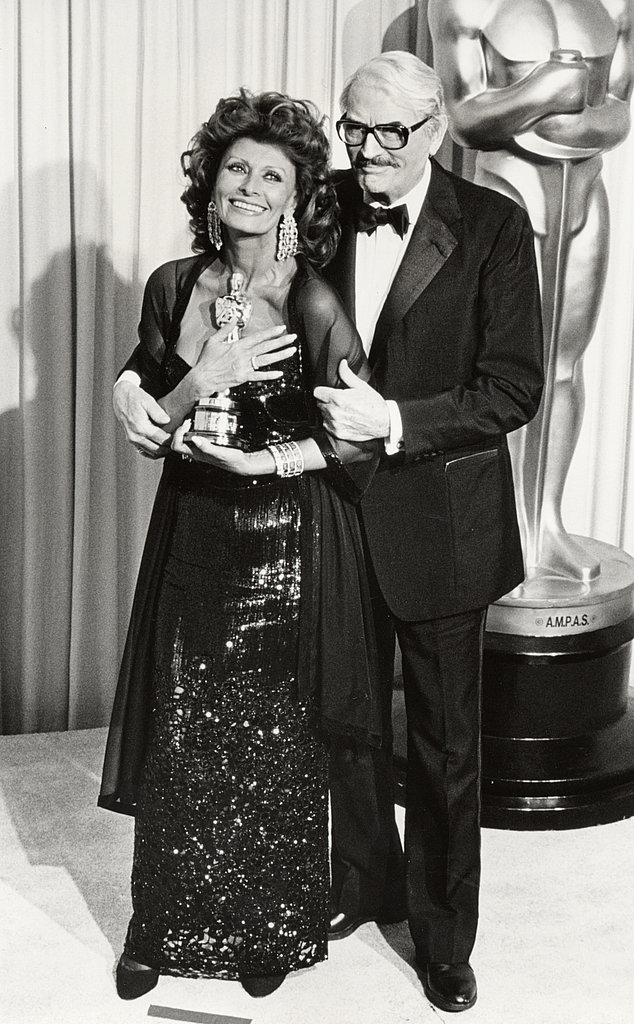 Sophia Loren and Gregory Peck, 1991.