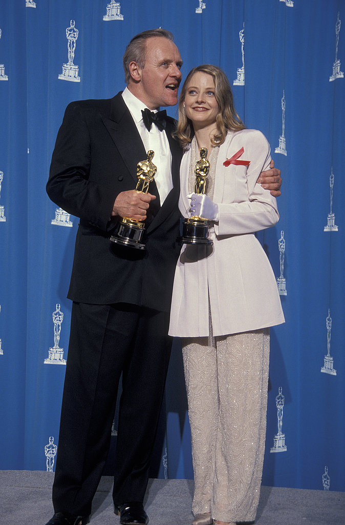 Anthony Hopkins and Jodie Foster, 1992.