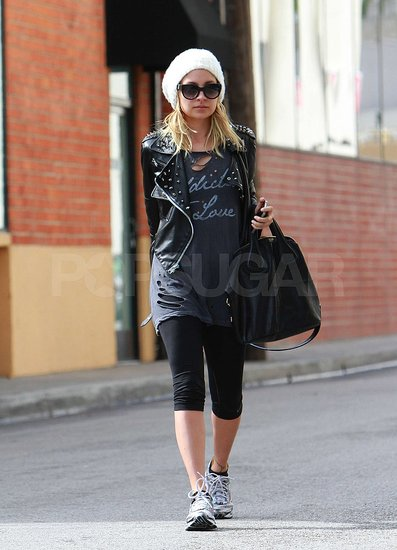 Pictures of Nicole Richie Leaving a Workout in Leather in LA