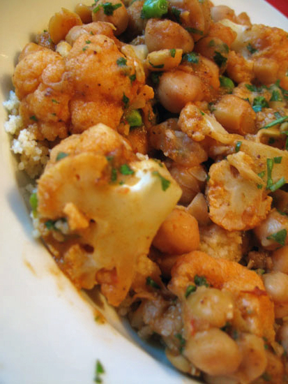Couscous With Beans and Cauliflower