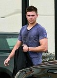 Zac Efron Ditches His Suit to Work Up a Sweat