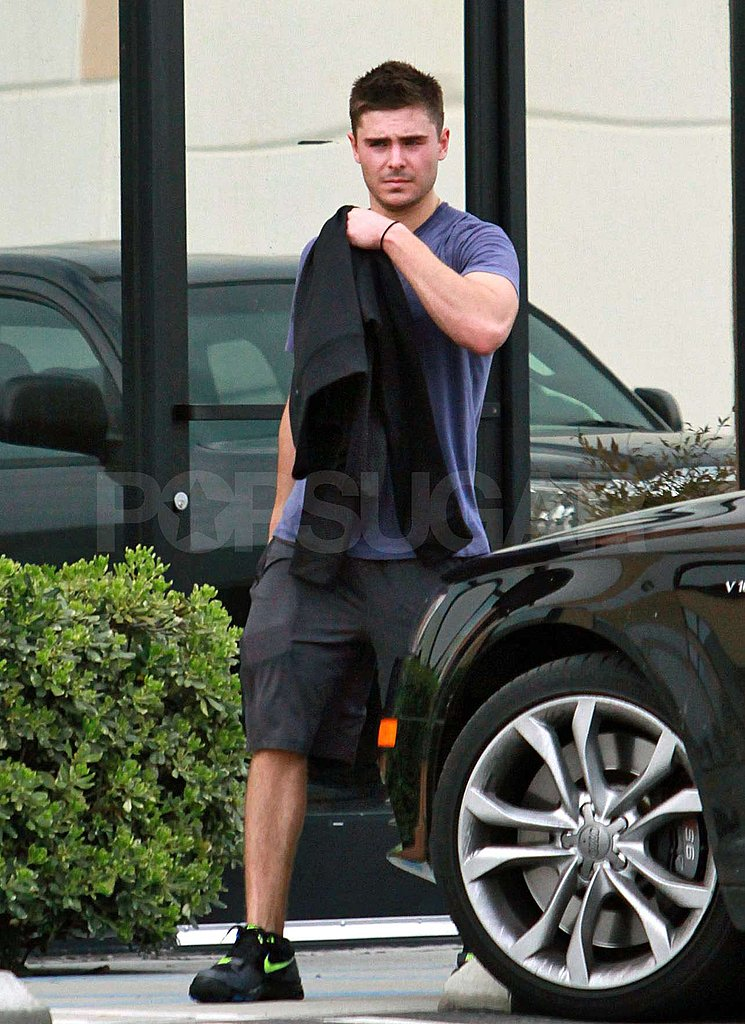Pictures of Zac Efron Working Up a Sweat in LA
