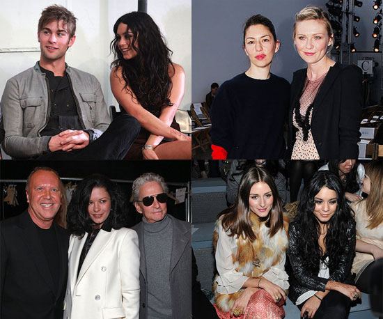 Chace Crawford, Vanessa Hudgens, Olivia Palermo and More Front Row Celebrities at 2011 Fall New York Fashion Week