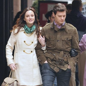 Pictures of Ed Westwick, Blake Lively, and Leighton Meester on the Set of Gossip Girl in NYC