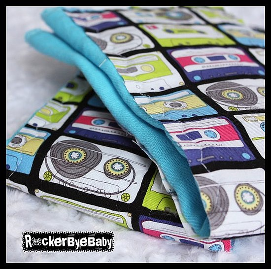 Cassette Burp Cloth