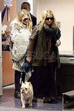Mary-Kate and Ashley Olsen Take a Trip West With Ashley's Adorable Bulldog