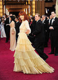 Florence Welch: Because we like the long sleeves on this Valentino couture frock — demure but not dated.