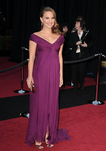 Pictures of Natalie Portman in Purple Rodarte at the 2011 Oscars