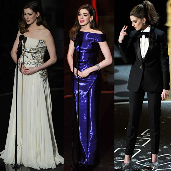 See All Seven Of Anne Hathaway&#039;s Outfits During the 2011 Oscars