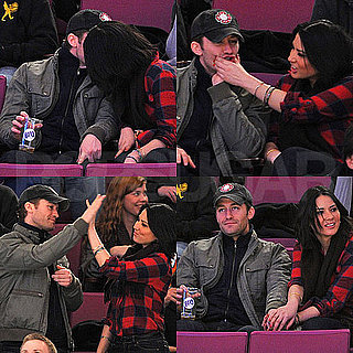 Pictures of Olivia Munn and Matthew Morrison Making Out at Madison Square Garden
