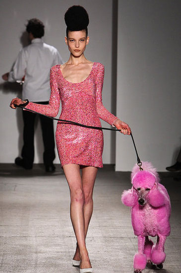 Bigger pup, smaller dress at Isaac Mizrahi.