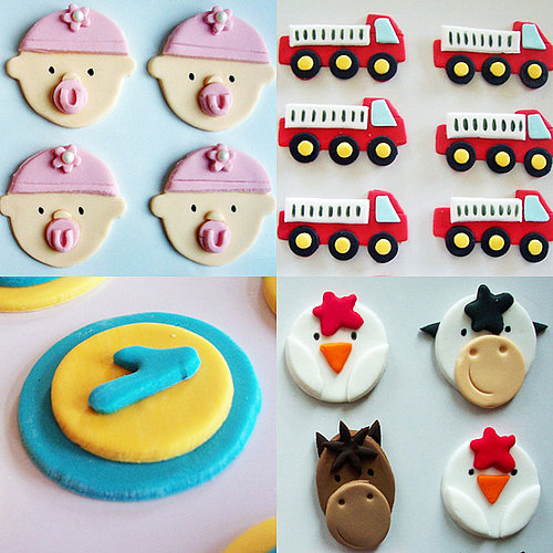 Fondant Cupcake and Cookie Toppers