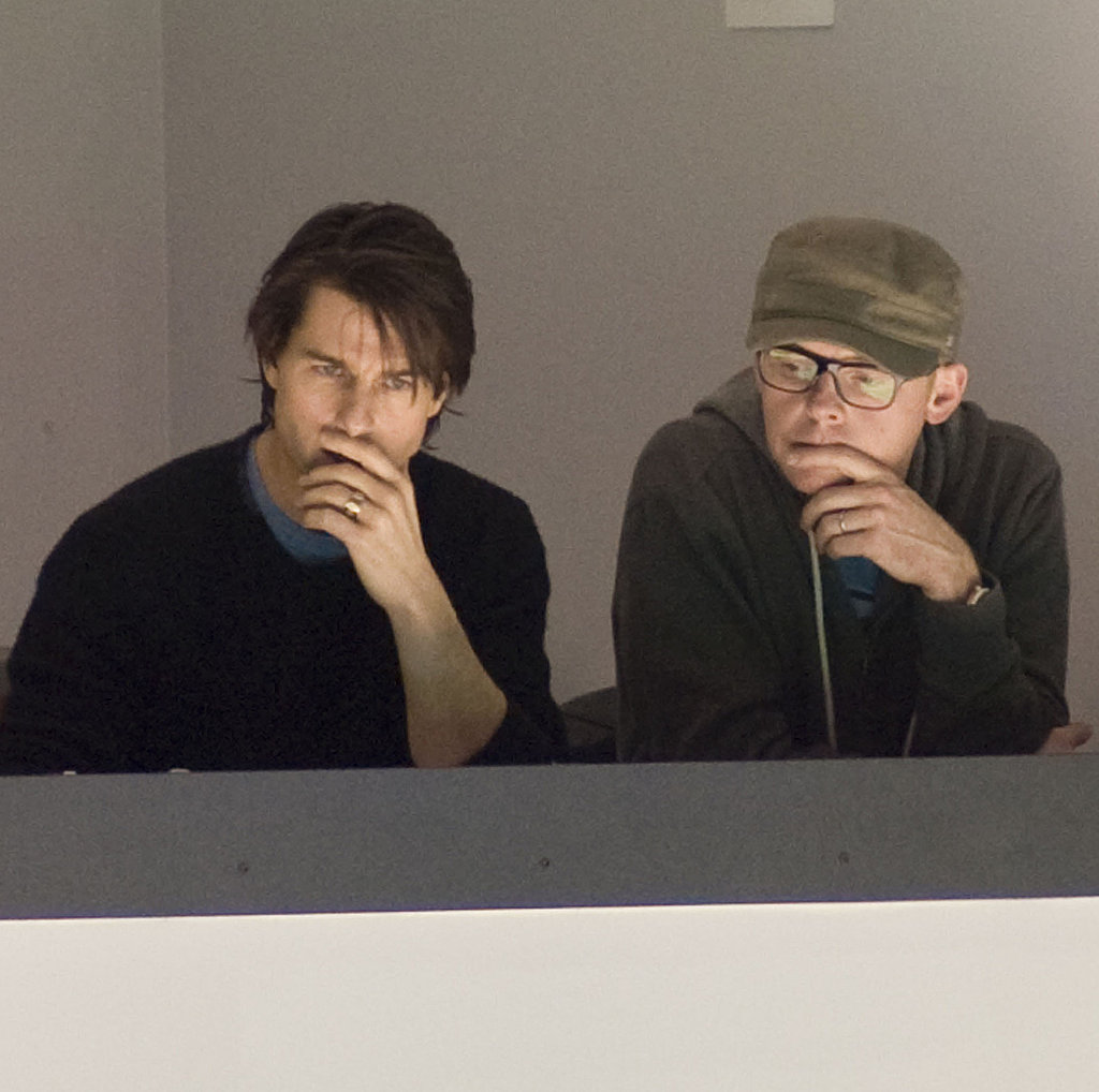 Tom Cruise Shares Hockey Tips While Suri Sips Starbucks