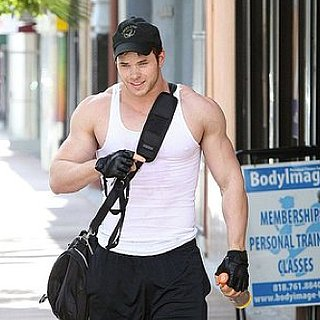 Pictures of Kellan Lutz Leaving the Gym in LA Wearing a Tank Top