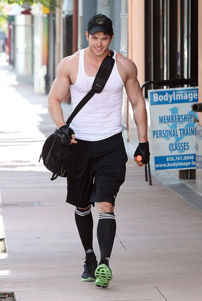 Kellan Lutz Will Knock Your Socks Off With His Gun Show