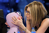 Jennifer Aniston Talks to Stuffed Animals For Spanish TV!