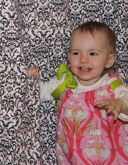 Sophia in her Sassy Valentine's outfit