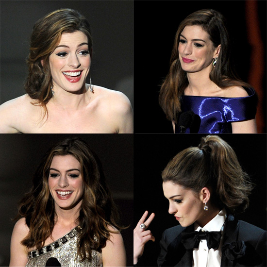Learn How to Get All 7 of Anne Hathaway's Chic Oscars Hairstyles
