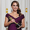Natalie Portman Calls Her Baby A &quot;Little Dancer&quot; In the Oscar Press Room 2011-02-27 22:15:13
