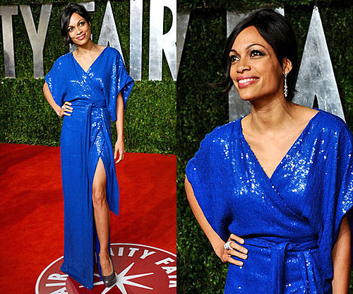 Rosario Dawson in Diane von Furstenberg at Vanity Fair Oscars Afterparty 2011