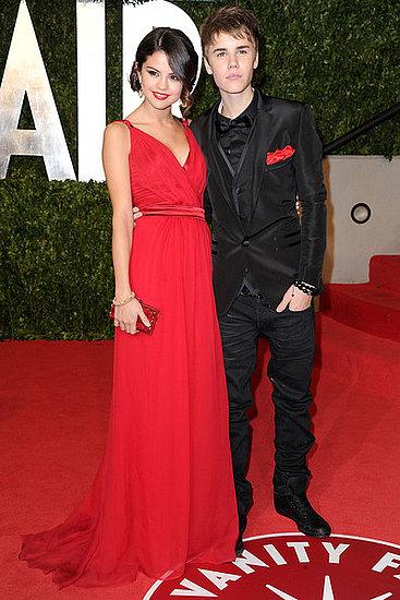 Selena Gomez and Justin Bieber (2011 Oscar Party)