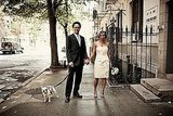 For their stylish New York wedding, this pair included their French Bulldog Zoe.  Photo by Brookelyn Photography