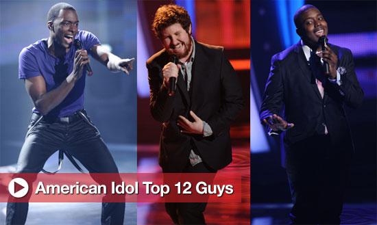American Idol Top 12 Guys Perform
