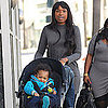 Pictures of Jennifer Hudson Walking in LA with Son David Otunga Jr.